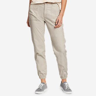 Women's Adventurer Stretch Ripstop Jogger Pants in Beige