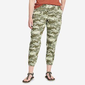 Women's Adventurer Stretch Ripstop Jogger Pants in Green