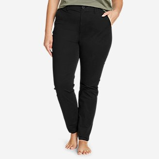 Women's Voyager High-Rise Chino Slim Pants in Black