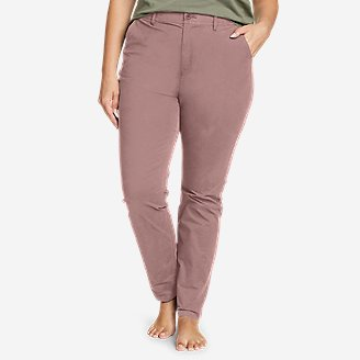 Women's Voyager High-Rise Chino Slim Pants in Purple