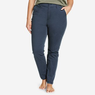 Women's Voyager High-Rise Chino Slim Pants in Blue