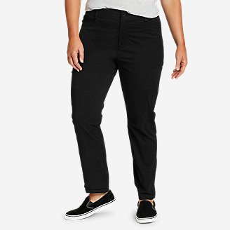 Women's Voyager High-Rise Chino Cargo Pants in Black