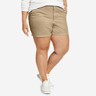 Women's Willit Stretch Legend Wash Shorts - 5' in Beige