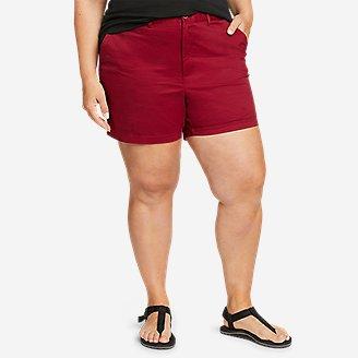 Women's Willit Stretch Legend Wash Shorts - 5' in Red