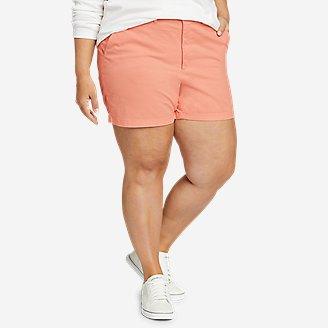 Women's Willit Stretch Legend Wash Shorts - 5' in Orange
