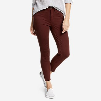 Women's Elysian High-Rise Skinny Twill Jeans in Brown