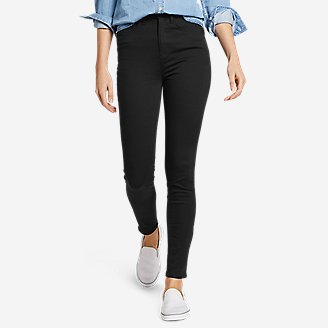 Women's Elysian High-Rise Skinny Twill Jeans in Black