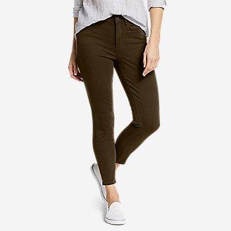 Women's Elysian High-Rise Skinny Twill Jeans in Green