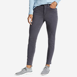 Women's Elysian High-Rise Skinny Twill Jeans in Gray