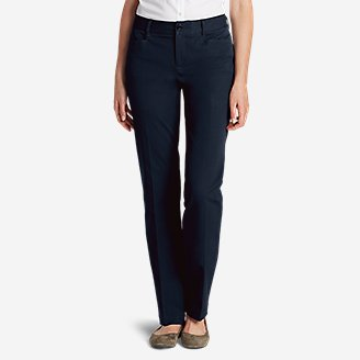 Curvy StayShape Stretch Twill Pants in Blue