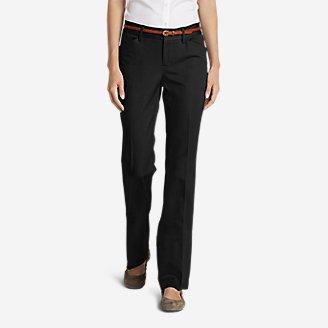 Women's StayShape Twill Trousers - Slightly Curvy in Black