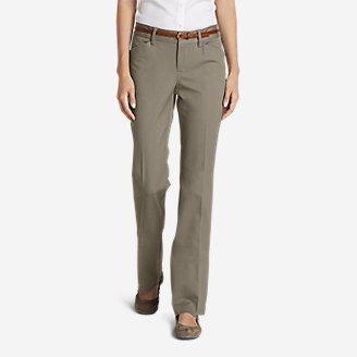 Women's StayShape Twill Trousers - Slightly Curvy in Beige