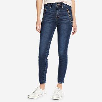 Women's Elysian 1/4-Top Zip High-Rise Skinny Jeans in Blue