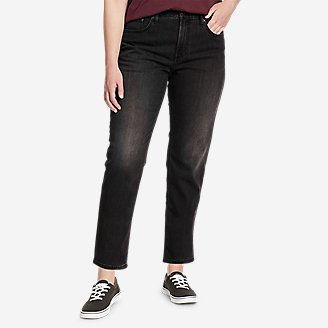 Women's Boyfriend High-Rise Ankle Jeans in Gray