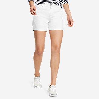 Women's Boyfriend Rolled Shorts in White