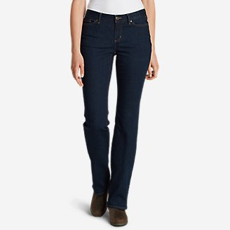 Women's StayShape Boot Cut Jeans - Curvy in Blue