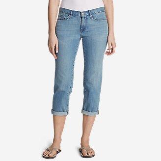 Women's Boyfriend Cropped Jeans in Blue