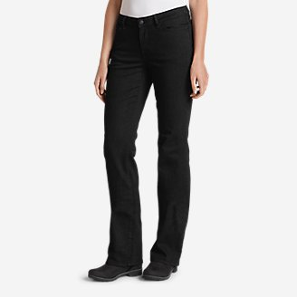 Women's StayShape Bootcut Black Jeans - Curvy in Black