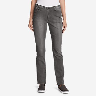 Women's Curvy StayShape Jeans - Straight Leg (River Rock Wash) in Gray
