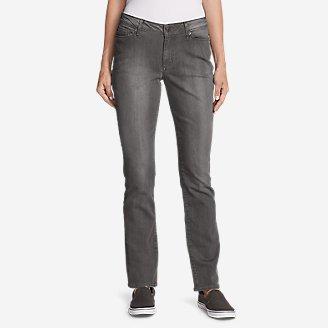 Women's Curvy StayShape Jeans - Straight Leg (River Rock Wash) in Gray