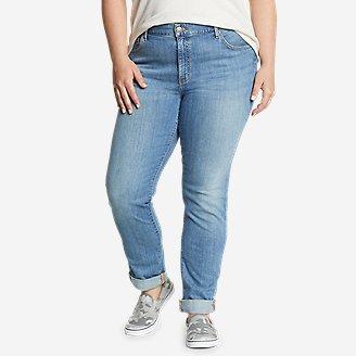 Women's Boyfriend Jeans - Slim Leg in Blue