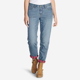 Women's Boyfriend Flannel-Lined Jeans in Blue