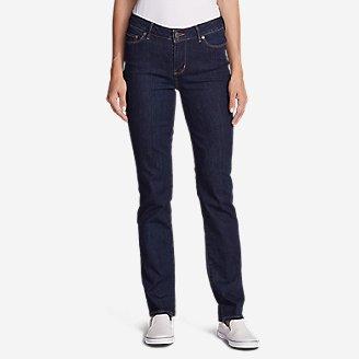 Women's StayShape Straight Leg Jeans - Slightly Curvy in Blue