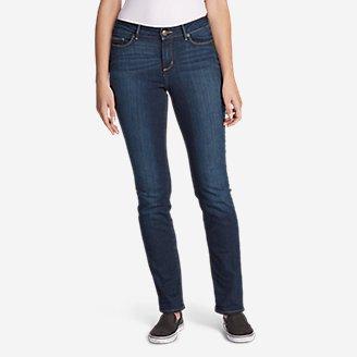 Women's StayShape Straight Leg Jeans - Curvy in Purple
