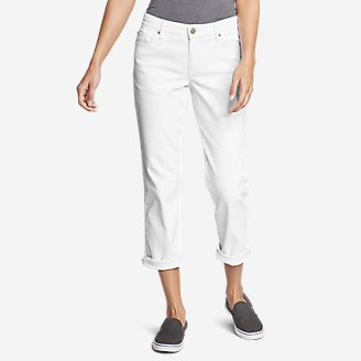 Women's Boyfriend Cropped Jeans - White in White