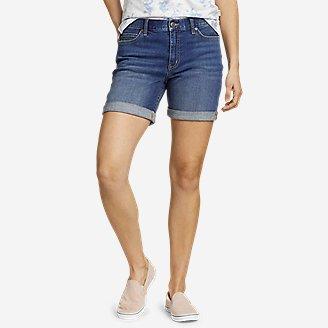 Women's Boyfriend Denim Shorts in Blue