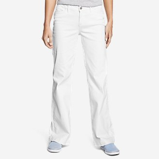 Women's Curvy Denim Trousers - White in White