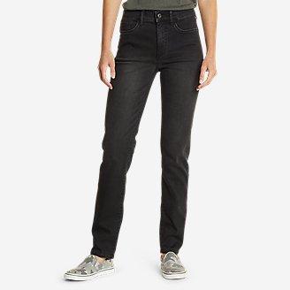 Women's Elysian Slim Straight High Rise Jeans in Gray