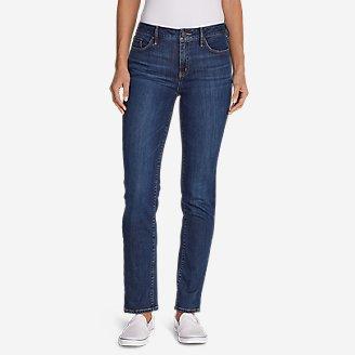 Women's Elysian Slim Straight High Rise Jeans in Blue