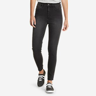 Women's Elysian Skinny High-Rise Jeans in Gray