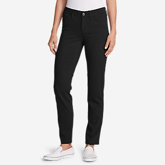 Women's Elysian Slim Straight Jeans - Color - Slightly Curvy in Black