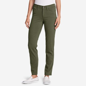 Women's Elysian Slim Straight Jeans - Color - Slightly Curvy in Green