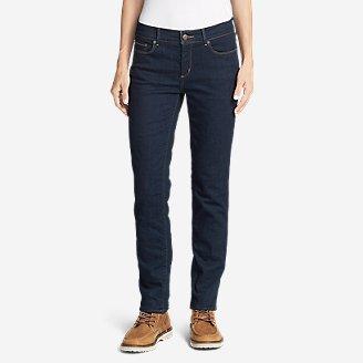 Women's StayShape Slim Straight Fleece-Lined Jeans - Slightly Curvy in Blue