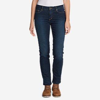Women's StayShape Slim Straight Fleece-Lined Jeans - Slightly Curvy in Purple
