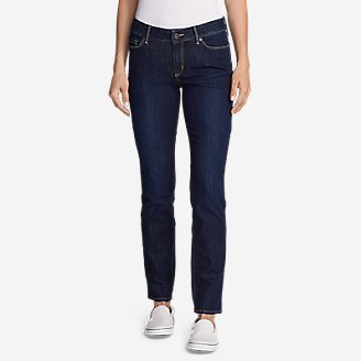 Women's Voyager Slim Straight Jeans - Slightly Curvy in Blue