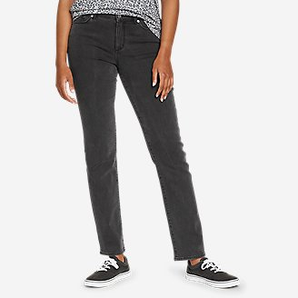 Women's Voyager Slim Straight Jeans - Slightly Curvy in Gray