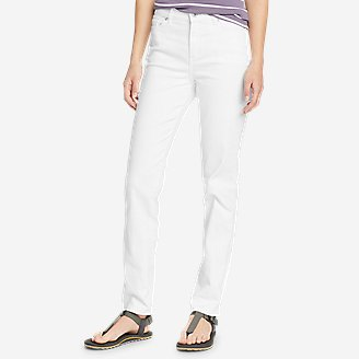 Women's Voyager Slim Straight Jeans - Slightly Curvy in White
