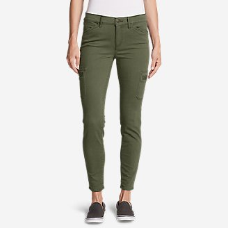 Women's Elysian Skinny Cargo Pants - Color, Slightly Curvy in Green