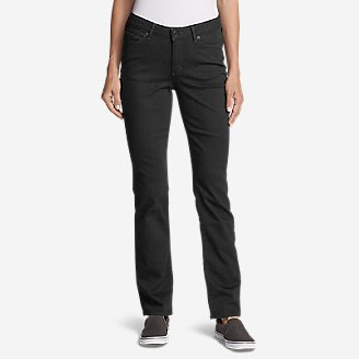Women's StayShape Straight Leg Black Jeans - Curvy in Black