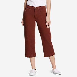 Women's Elysian High Rise Wide-Leg Twill Jeans in Brown