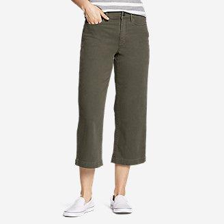 Women's Elysian High Rise Wide-Leg Twill Jeans in Green
