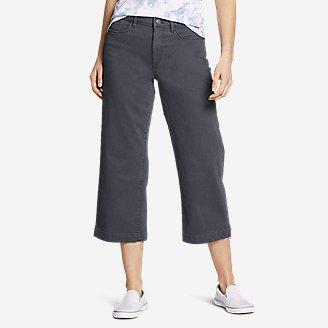 Women's Elysian High Rise Wide-Leg Twill Jeans in Gray