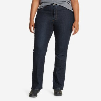 Women's Voyager High-Rise Boot-Cut Jeans - Curvy in Blue