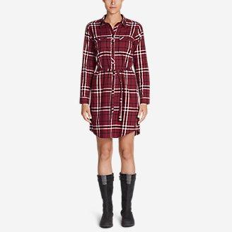 Women's Stine's Favorite Flannel Shirt Dress in Red