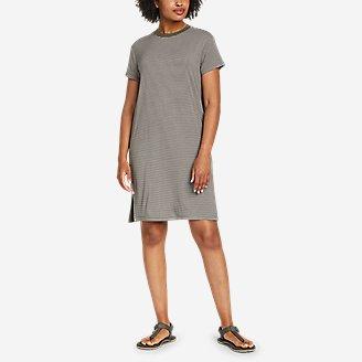 Women's Soft Layer Short-Sleeve T-Shirt Dress in Green