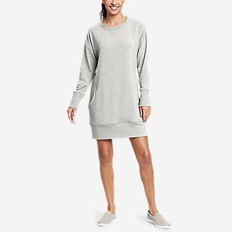 Women's Cozy Camp Sweatshirt Dress in Gray